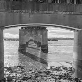 Taken at low tide whilst walking underneath Kincardine on Forth Bridge Scotland.