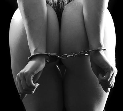 cuffed in the rear