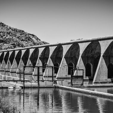 An old dam off the old Hwy80 in Arizona.