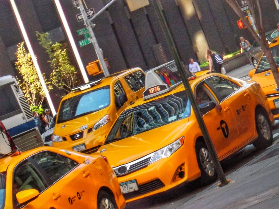 Iconic yellow cabs taken on a visit to New York for my sisters birthday.