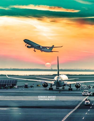 Sunset Departures at JFK