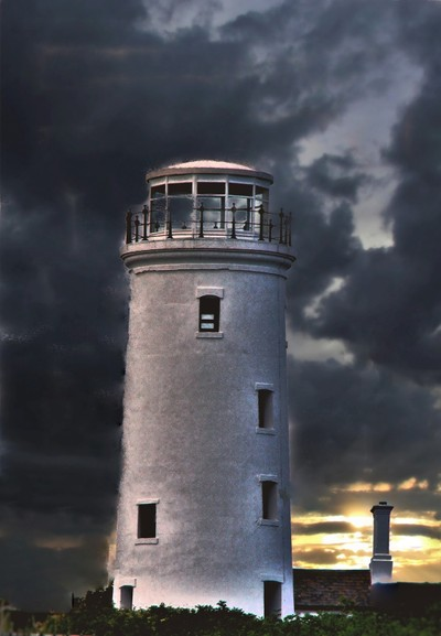 Storm Brewing over Lighthouse