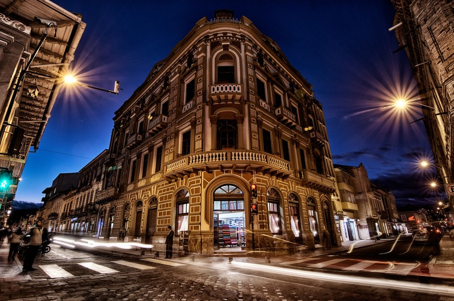 While looking for the right picture while the sun was setting, I found this building that  had gr...