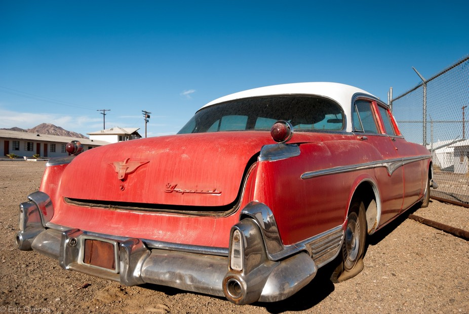 Saw this Chrysler on Route 66 in Amboy, CA.