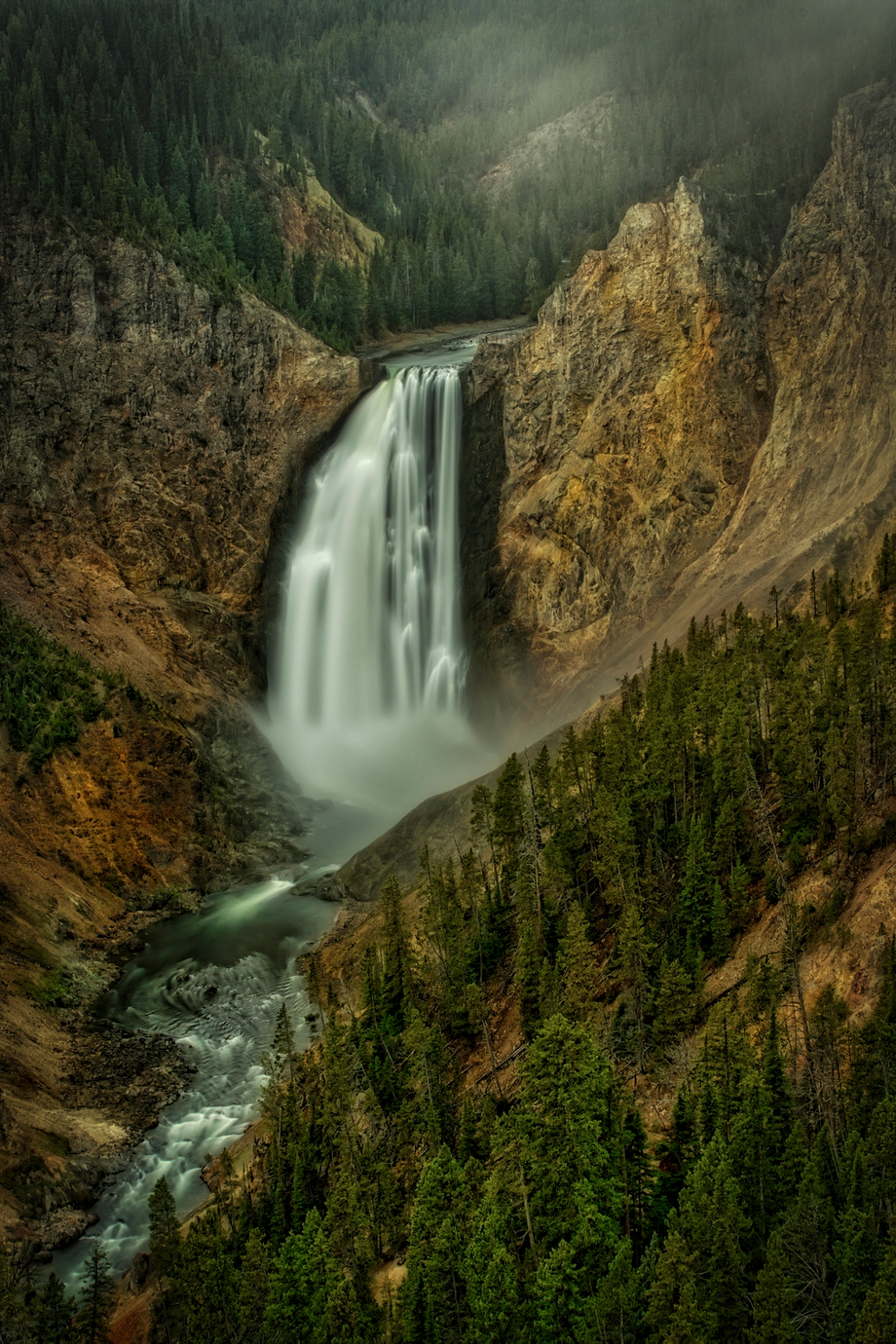 Yellowstone Falls Gloom by conniemcclaran - Celebrating Nature Photo Contest Vol 5