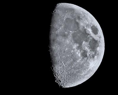Bombarded moon