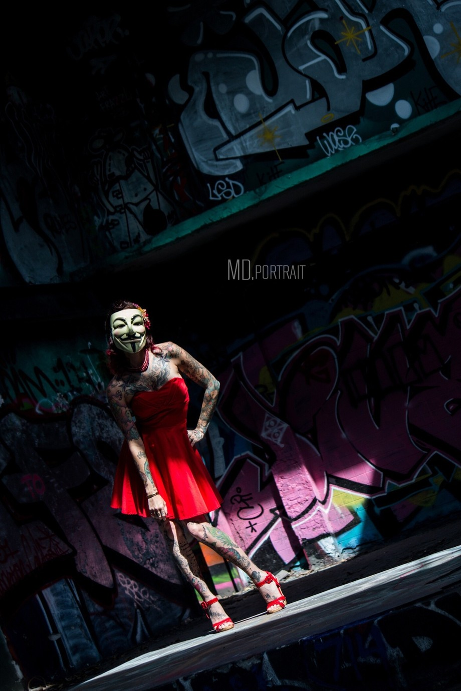 Pinup Guy Fawkes by MDPortrait - Science Fiction Photo Contest