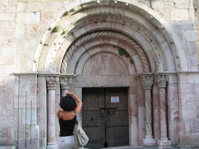 Door of the chuch of Villefranche IMG_2273