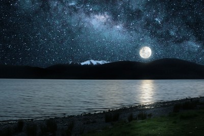 Evening at Lake Te Anau