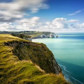 The beautiful coast line of Normandy in France, amazing photography location!!