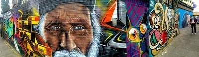Brick Lane Street Art Panoramic