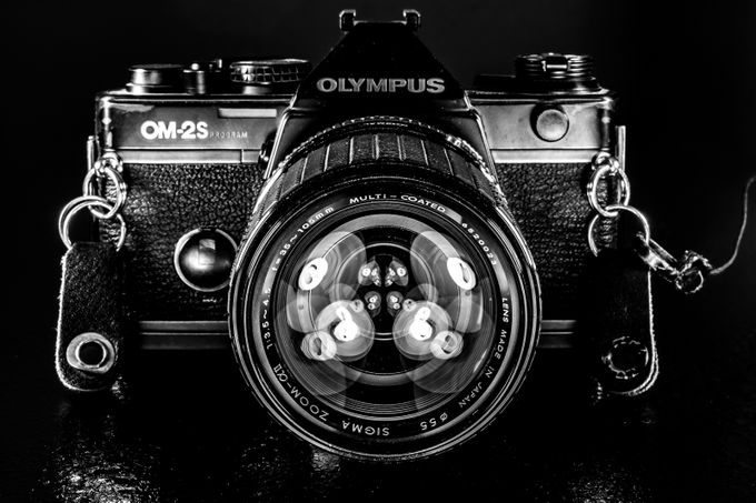 black and white reverse selfie  by Reallycrazykiwi - Circle Games Photo Contest