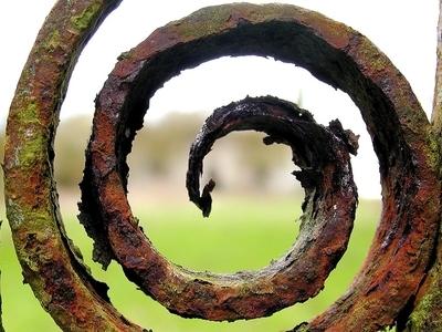 Rusty Iron Scroll