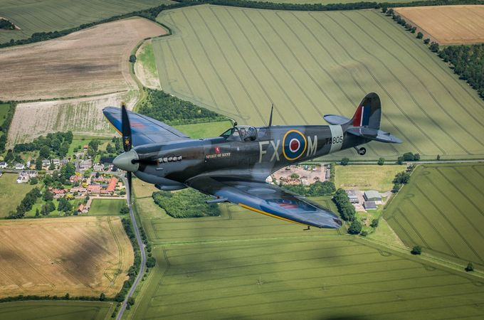 Spitfire in the air by fatfoxphotography - Aircraft Photo Contest
