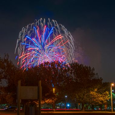 San Diego Sea World fireworks HDR from 3 separate images.