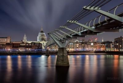 St Paul's Cathedral & Millennium Bridge, London