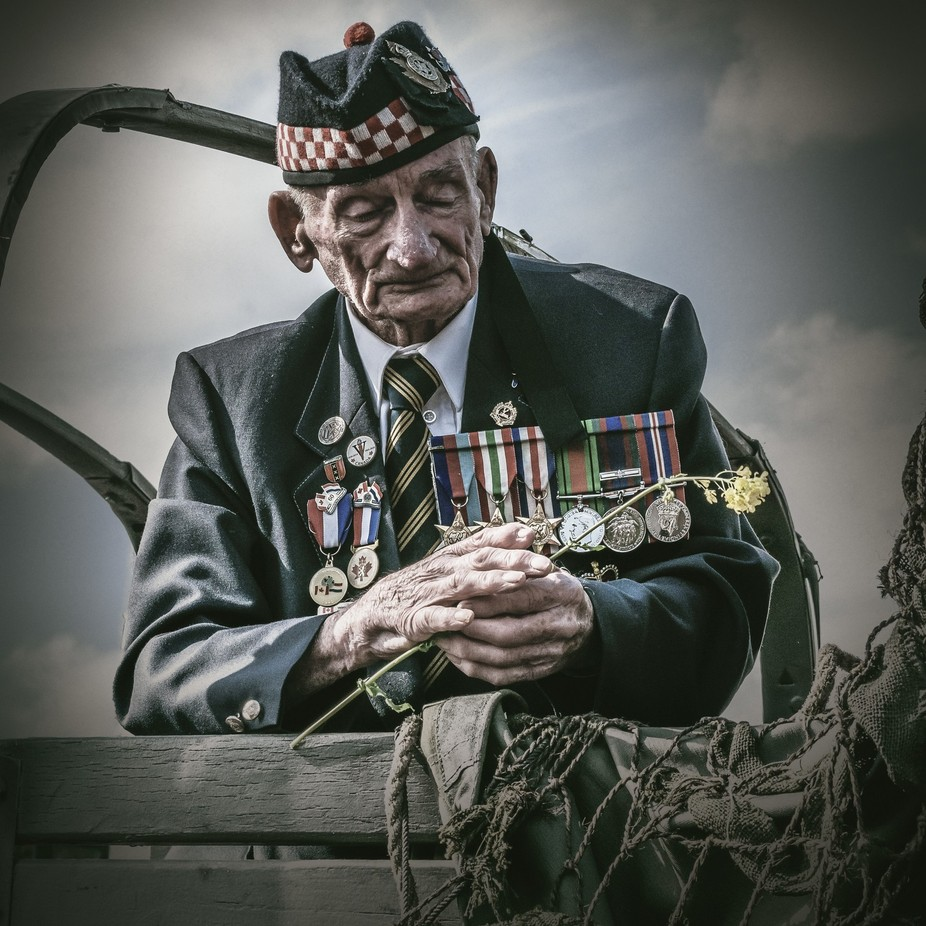 Canadian WW2 Veteran of the Essex Scottish Regiment by joostlagerweij - Once Upon A Time Photo Contest