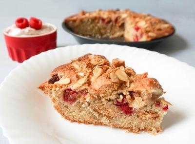 Raspberry Amaretti Cake