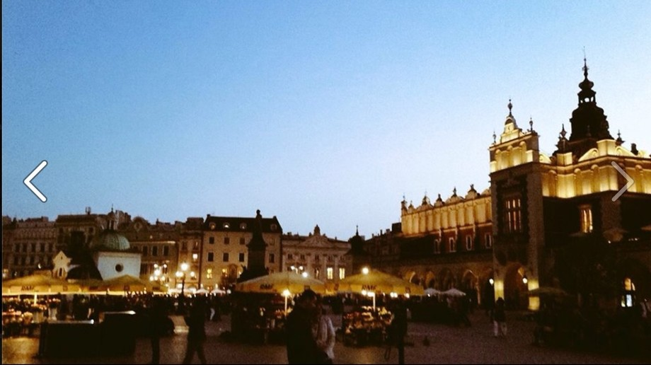 Taken while on my trip around Europe. Here is downtown Kraków, Poland.