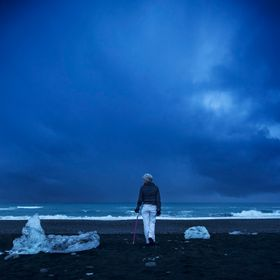 While battling cancer this woman wanted to fulfil her dream to scale a glacier in Iceland. After completing it we went to a black sand beach wher...