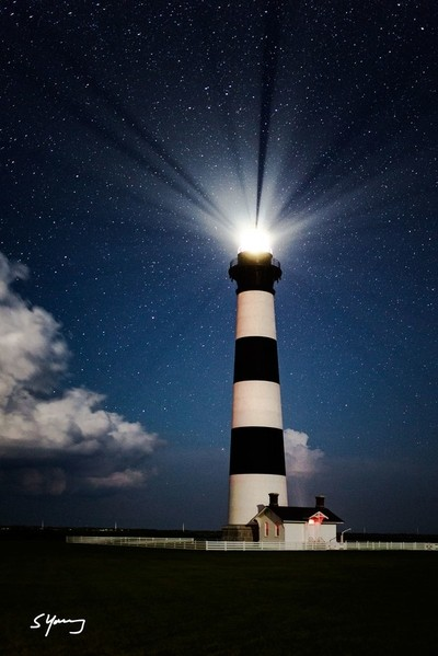 Bodie Light Station in Moonglow; Nags Head, NC