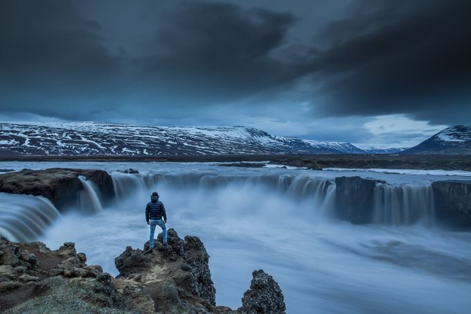 Godafoss hike by manoumaudgal
