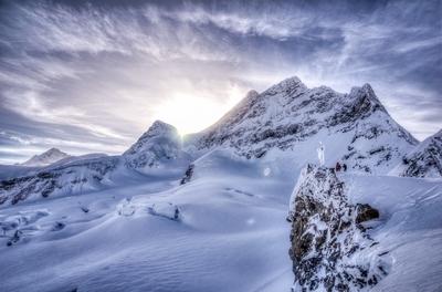 Sun Setting on the Jungfrau
