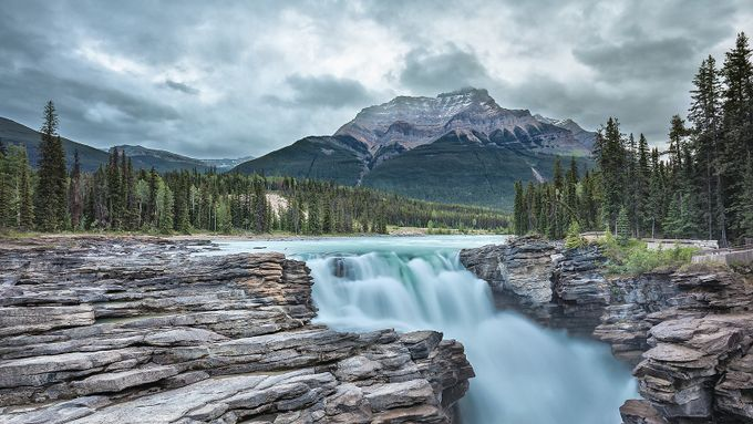 Athabasca Falls by pixadeleon - Our Natural Planet Photo Contest