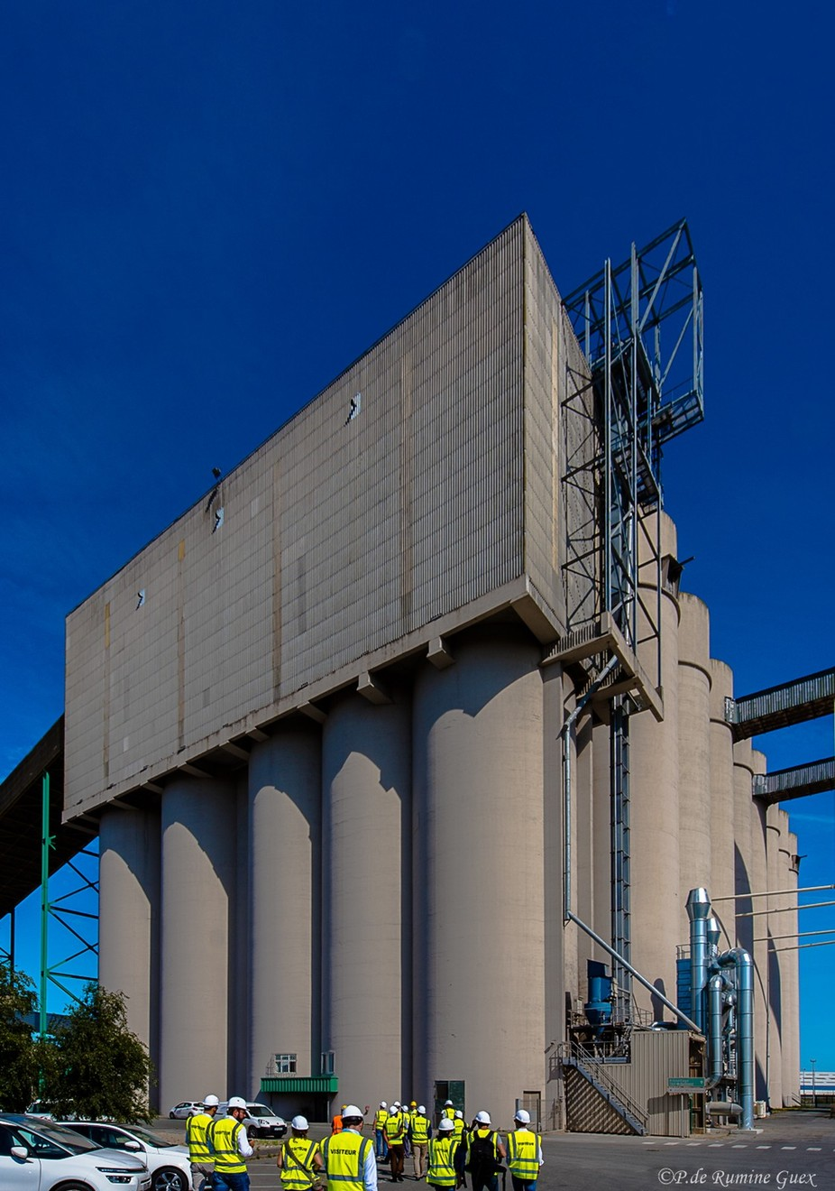 Cereal Silos at la Rochelle la Pallice Port. The SICA Atlantic Coop. ship 6 million tons of cereals from these silos around the world
