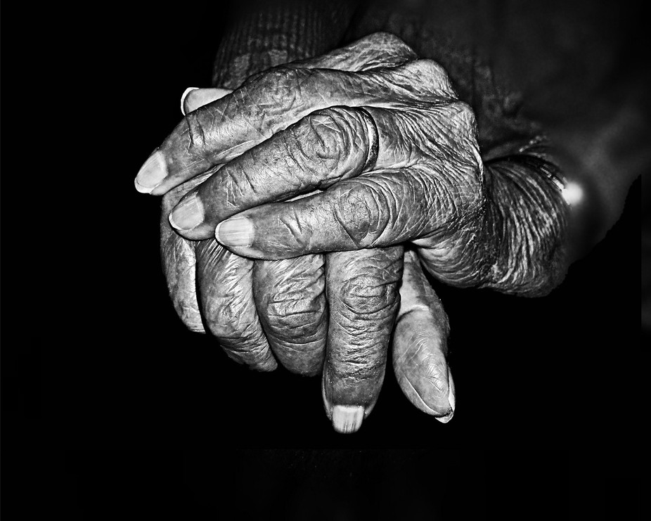 The hands tells the emotions of my grandmother