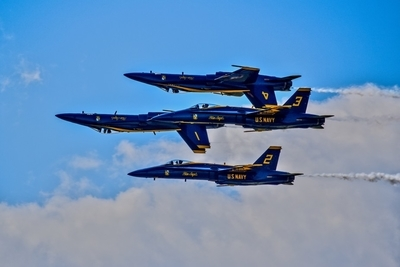 Blue Angles Double Inverse Flyby