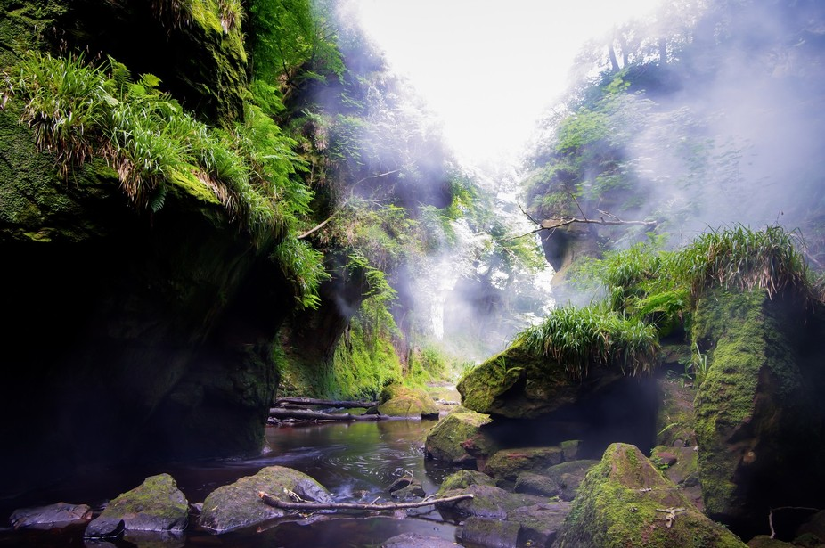 actually The Devil's Pulpit in Scotland.