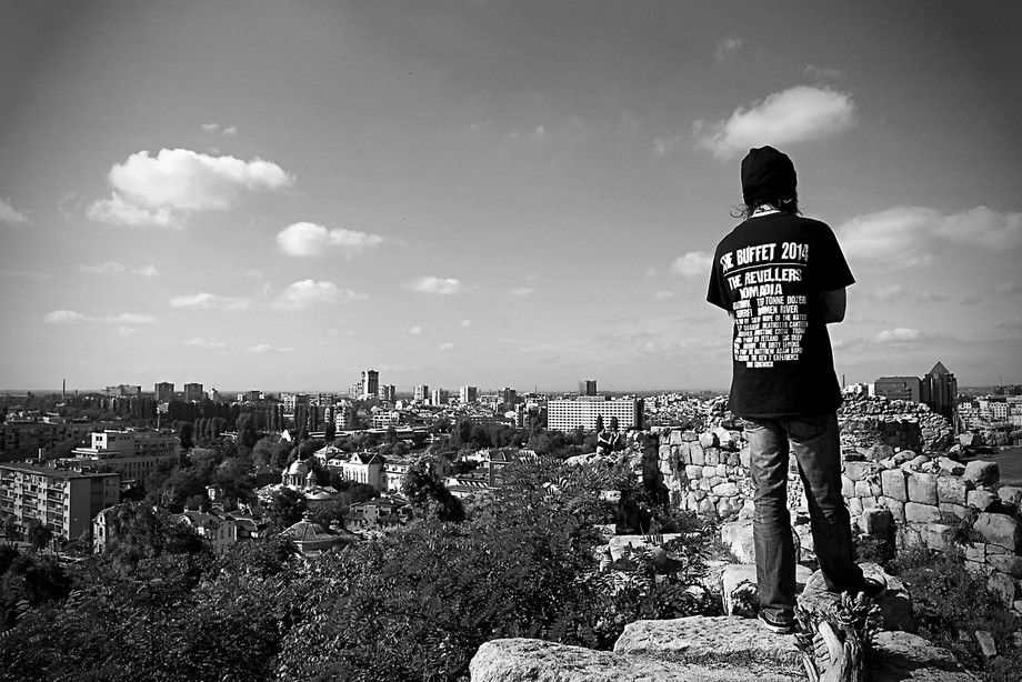 Небет тепе in the Plovdiv Old Town, you had a beautiful view of the city from up there.