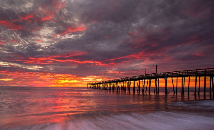 Nags Head Sunrise by dlos - The View Under The Pier Photo Contest