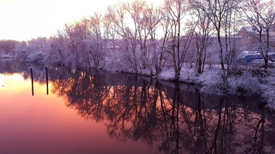 Wintertime Sunset Reflections