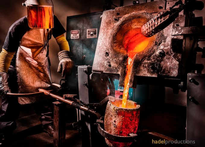 Metal Foundry by greghadel - People At Work Photo Contest