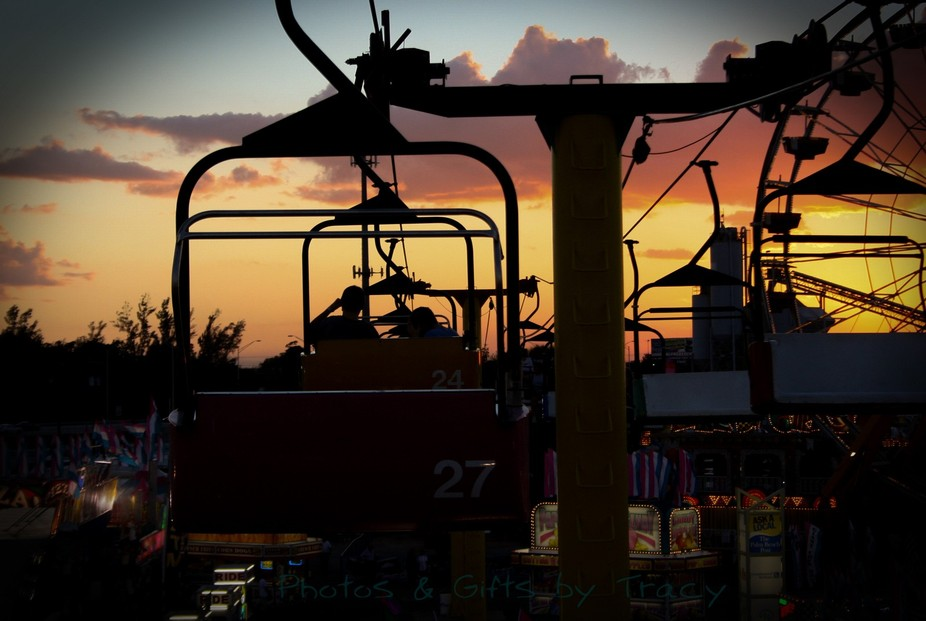 Just a nice evening ride on the skyline ride above the fair.  Always a great time to catch that G...
