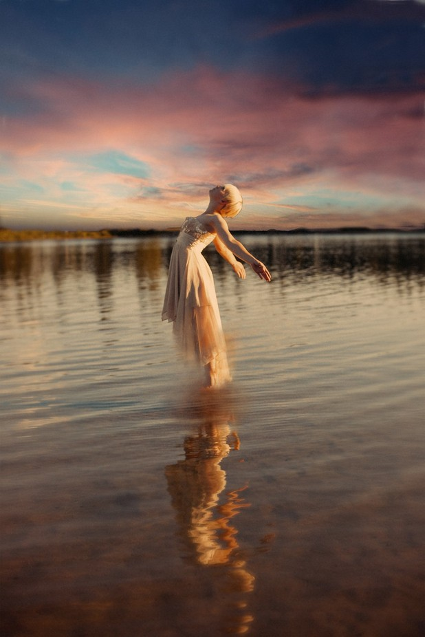The Young Lady of the lake by darcithompson - Levitation Art Photo Contest