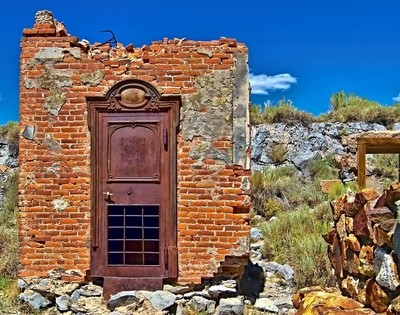 Bank Door Bodie, Ca., Ghost Town