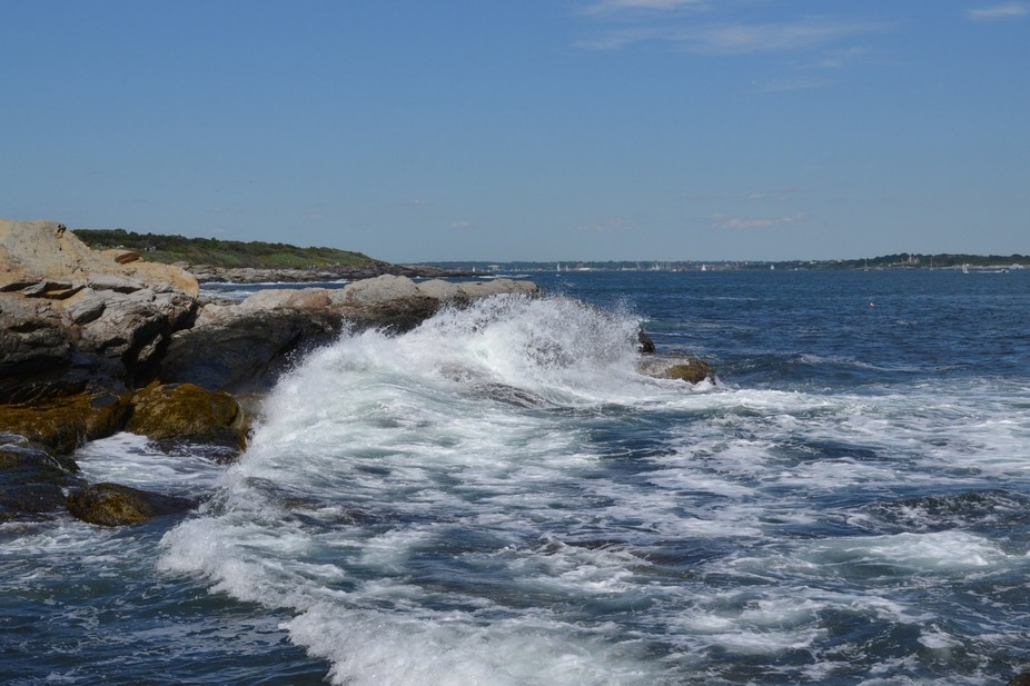 Coast of Jamestown RI, with Newport across the bay