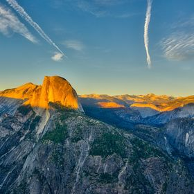 Great experience watching the sun set on Half Dome, from Glacier Point in Yosemite National Park in California.
