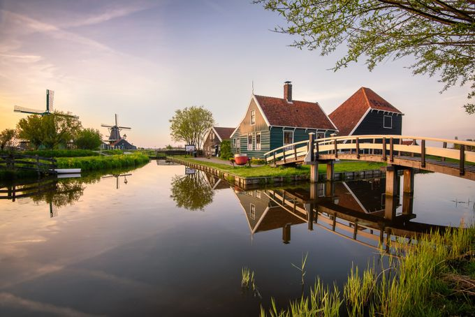 Dutch light - Zaanse Schans, Netherlands by luigitrevisi - Lakes And Reflections Photo Contest