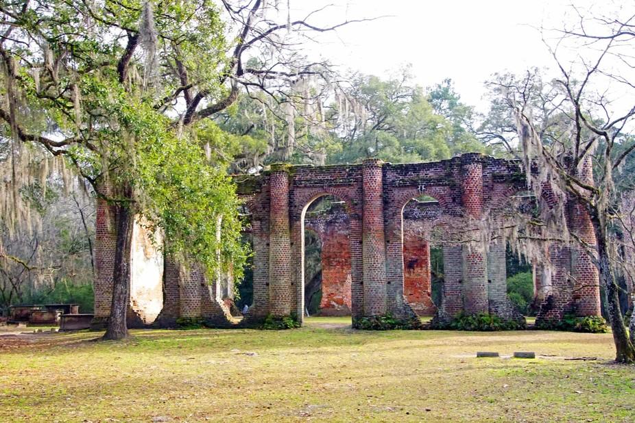 Ruins of a church near Beaufort, SC