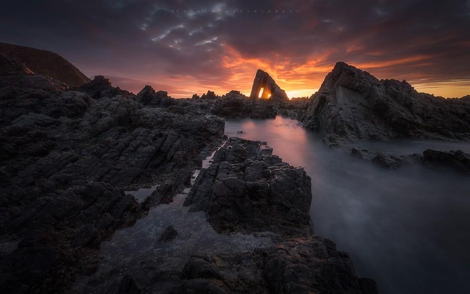Sunset at Vallina Beach (Asturias, Spain)