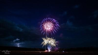 Fireworks with Lightning