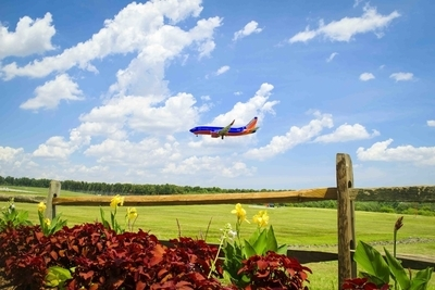 Southwest Airplane landing at BWI Airport