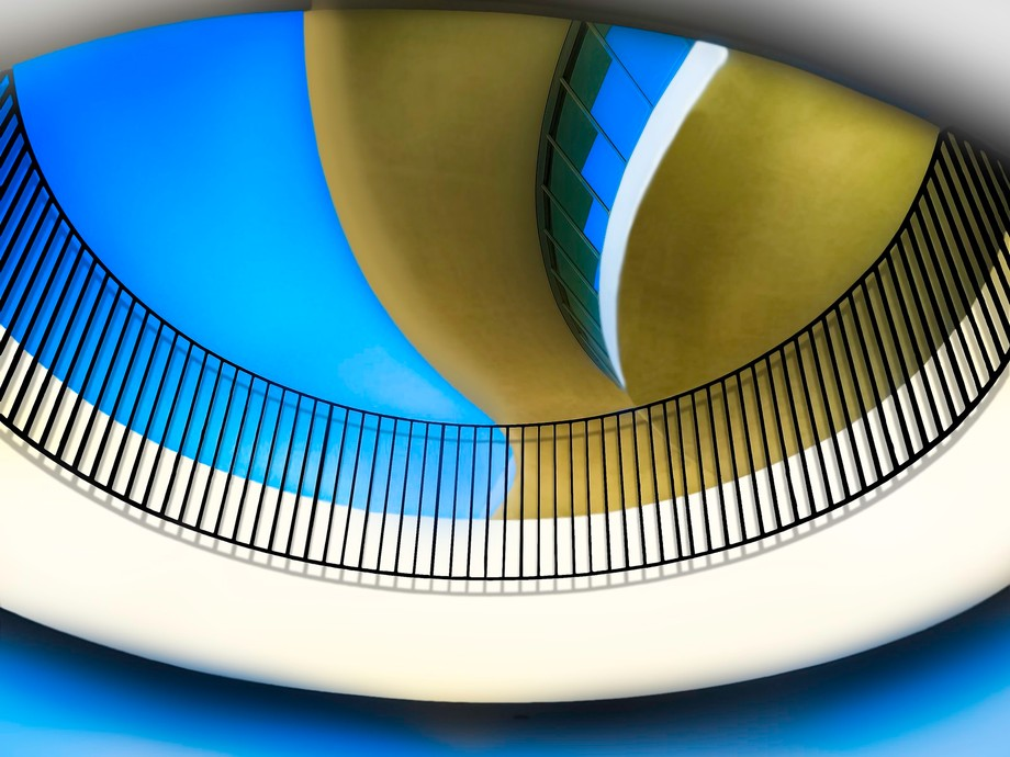 Looking Up At Theme Building Los Angeles CA LAX Airport Encounter Restaurant by Walt Disney Imagi...