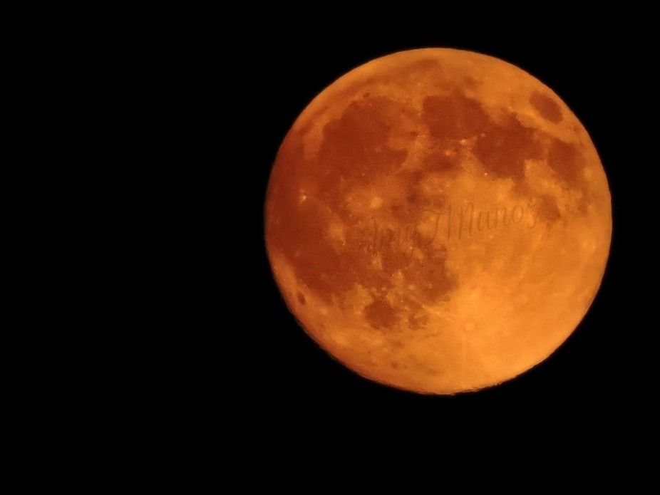 Smoke from all the fires makes our moon orange..July 18, 2016