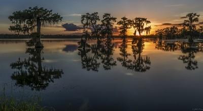 Sunset at Lake Martin, La