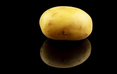 potato with black background